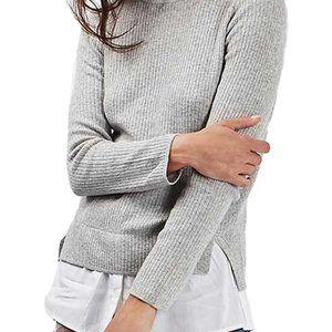 Topshop | Layered Grey Wool Sweater💞